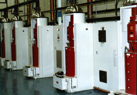 This is a Harris 5 cavity Klystron Transmitter ( Steamer Type ) at a TV station I used to be Chief Engineer at.